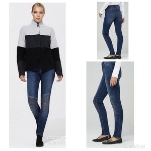 Karl Lagerfeld Paris Ribbed Knee Jeans